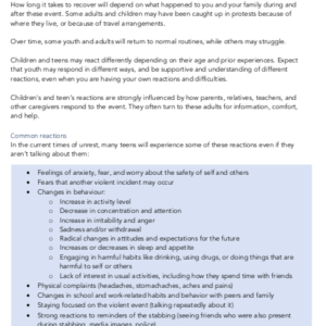 RCHK Adult Guidelines for Children and Teenagers